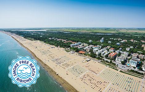 Bibione: la spiaggia senza fumo