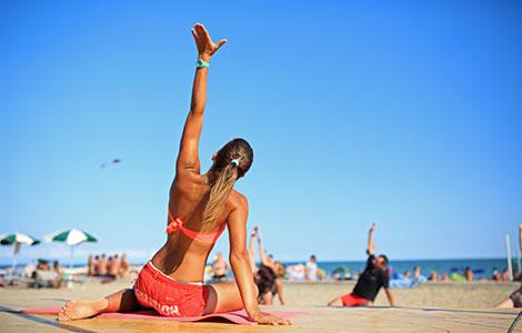 Sport on the beach in Jesolo